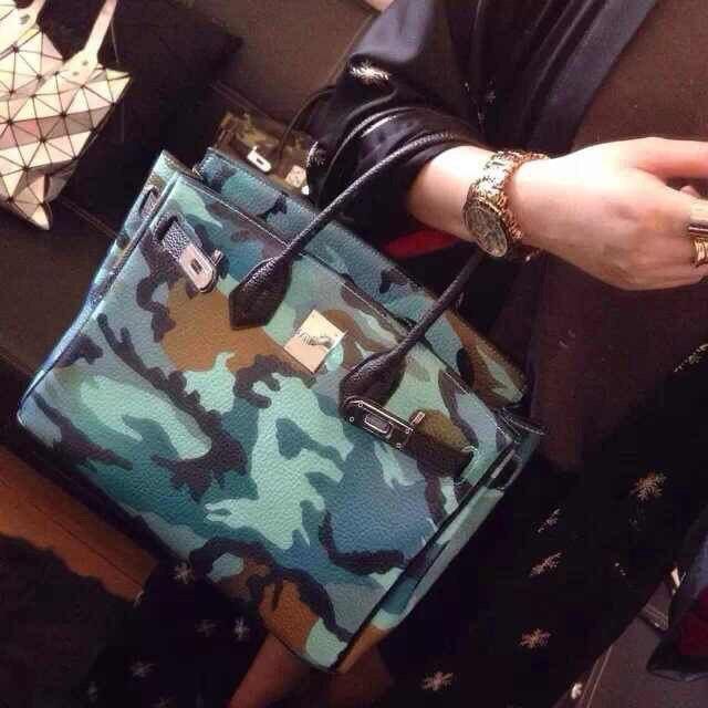 ФОТО Luxury brand handbags new European and American fashion camouflage platinum bag lychee pattern high quality PU material handbag