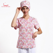 Operating room short sleeve hand-washing clothes can be fully cotton high temperature disinfection suit new style
