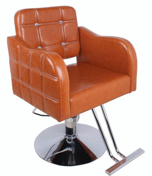 Hairdressing Salon Manager With A New Haircut Chair Barber Stool Drilling Sub 959