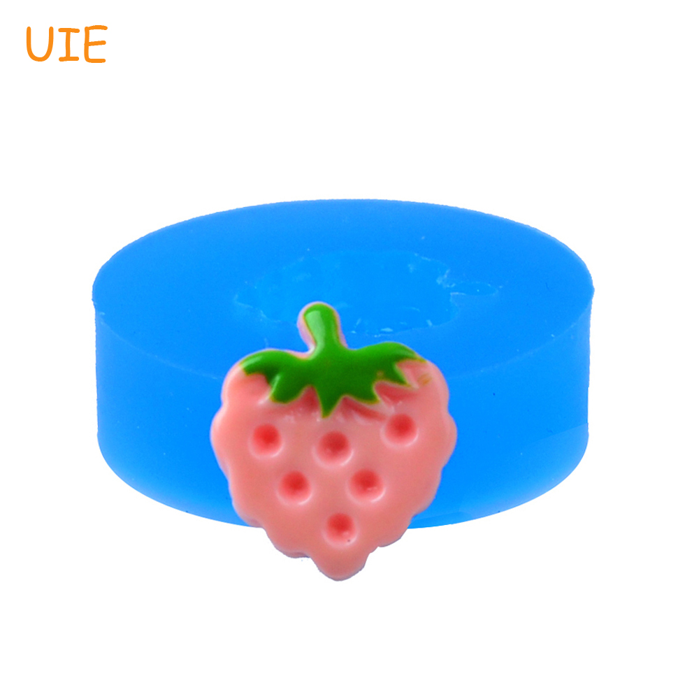 Chocolate Charms Fimo Polymer Clay Mould Gyl187u 3d Strawberry Sandwich Silicone Mold 19mm Soap Mold Food Safe Low Price