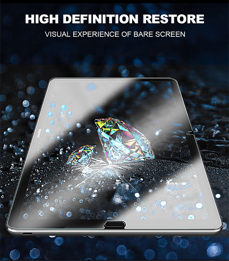 For Huawei MediaPad M5 Lite Pro 10.8 8.4 M3 Lite 10.1 8 Screen Protector 9D Full Cover Tempered Glass Film For MediaPad T5 T3 10 (4)