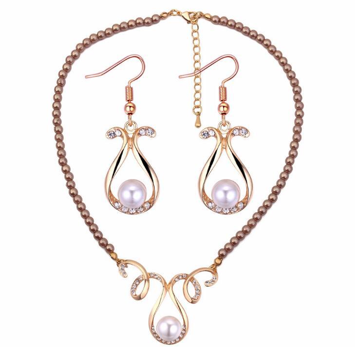 Gedicht schnee Modische elegante temperament vase gefälschte Perle Ohrringe Halskette Schmuck anzug-in Schmucksets aus Schmuck und Accessoires bei  Gruppe 1