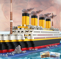 1860pcs Big ship Model Building Blocks Toys Compatible with Legoe Birthday Gifts Decoration