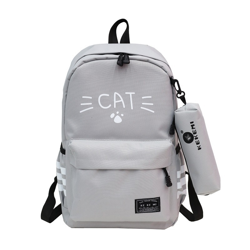 New fashionable and high quality canvas solid letter  women backpack student two pack schoolbag Travel Backpack