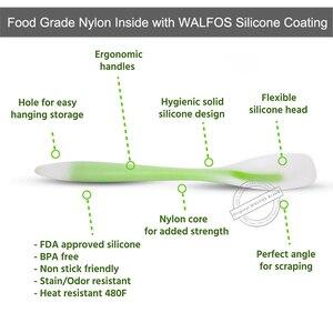 Image 5 - WALFOS Accesorios de utensilios para cocina de silicona de grado alimenticio, juego de utensilios de cocina resistentes al calor, espátula antiadherente, cuchara giratoria de cucharón