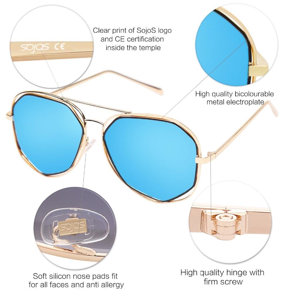 SOJOS 2017 retro Marke Designer metallrahmen aviator sonnenbrille ...