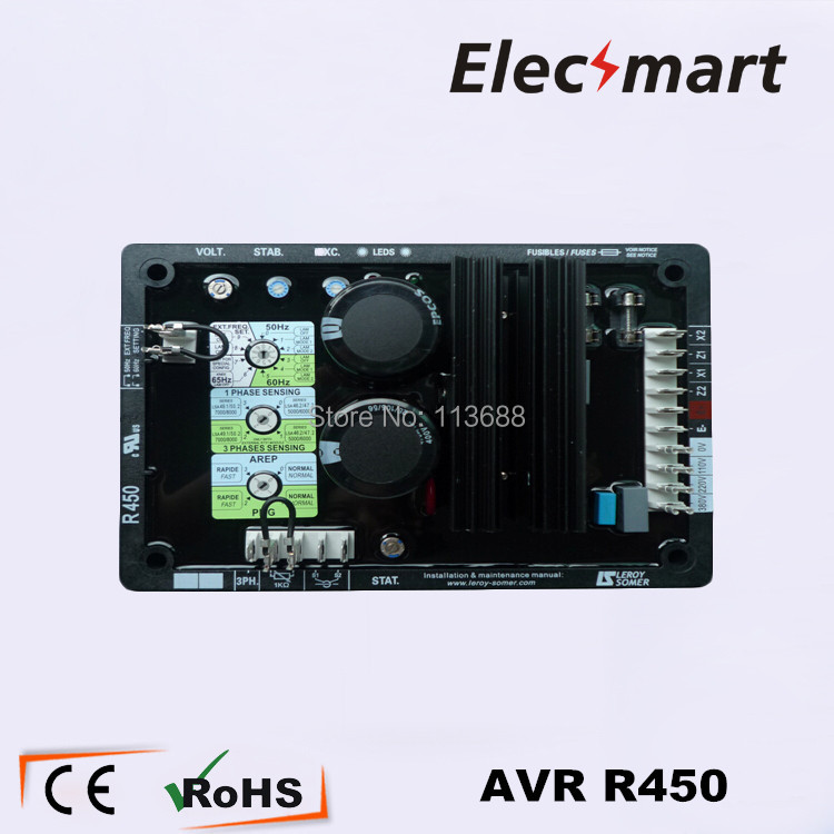 Automatic Voltage Regulator AVR R450 for Leroy Somer Generator