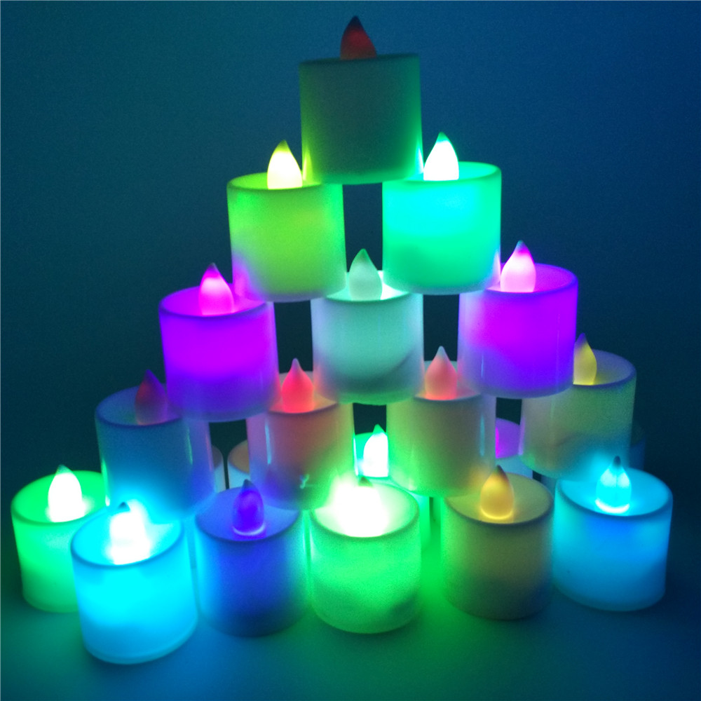 buy romantic holiday led colorful candle night lights lumieres bougie de nuit. Black Bedroom Furniture Sets. Home Design Ideas