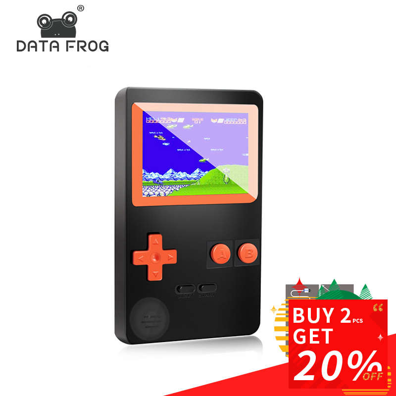 Data Frog 2.8 inch 8 Bit Handheld Game Player Family TV Retro Mini Game Console Build In 200 Classic Games Kid Toys Gift