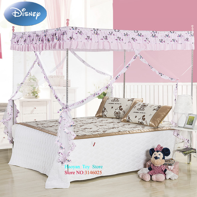 Disney Fashion INS Net Mickey Baby Bed Blue Pink Mosquito Set Mesh Dome Curtain Net for Toddler Crib Cot Canopy Dropshipping black anti mosquito pest window net mesh screen curtain protector