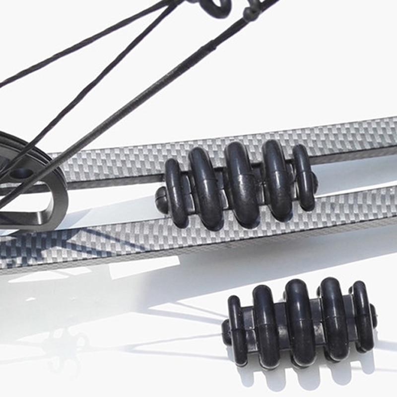 2st Archery Bow Stabilizer Compound Bow Vibrationsdämpare Jakt Pil stötdämpare Skjut Spel Dämpning Svart Färg