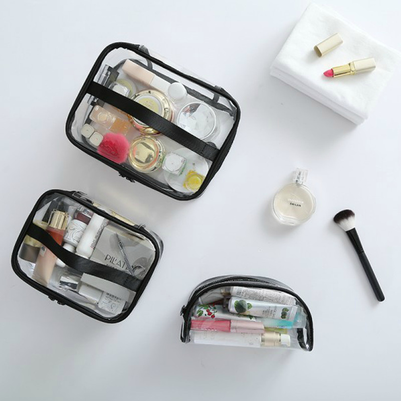 2017 JULY'S SONG Transparent PVC Toiletry Bags Travel Organizer Cosmetic Necessary Beauty Case Makeup Bag Bath Wash Make up Box fadish transparent cosmetic bag pvc makeup bags travel organizer necessary beauty case toiletry bag wash make up pouch striped