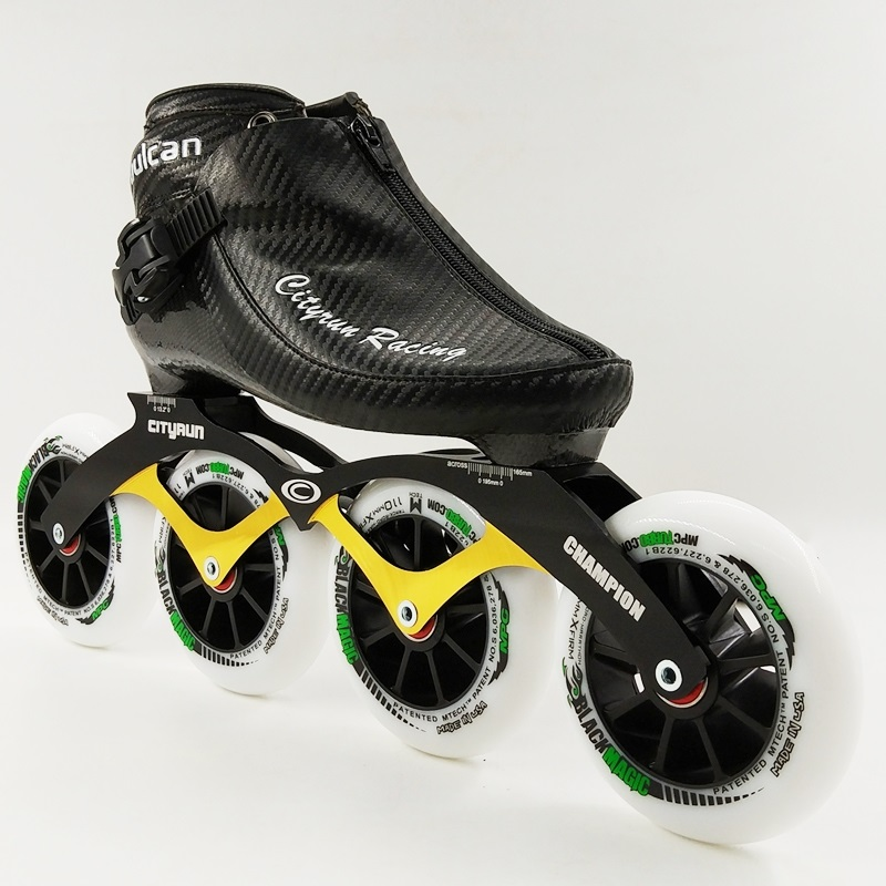 0227e90a647 Professionele Speed Skate Schoenen Racing Schaatsen NIEUWE Aankomst Mannen/Vrouwen  Inline Skates 4 Wielen Volwassenen