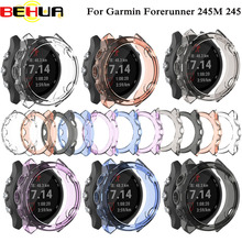 цена на TPU Protector Case For Garmin Forerunner 245M Watch Band Strap Soft Cover Shell For Garmin Forerunner 245 GPS Watch Accessories