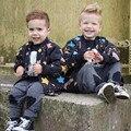 Estrellado de niños chaquetas de invierno Abrigo de Invierno Gruesa chaqueta niños abrigos de invierno infantil chaquetas de Primeras marcas grandes