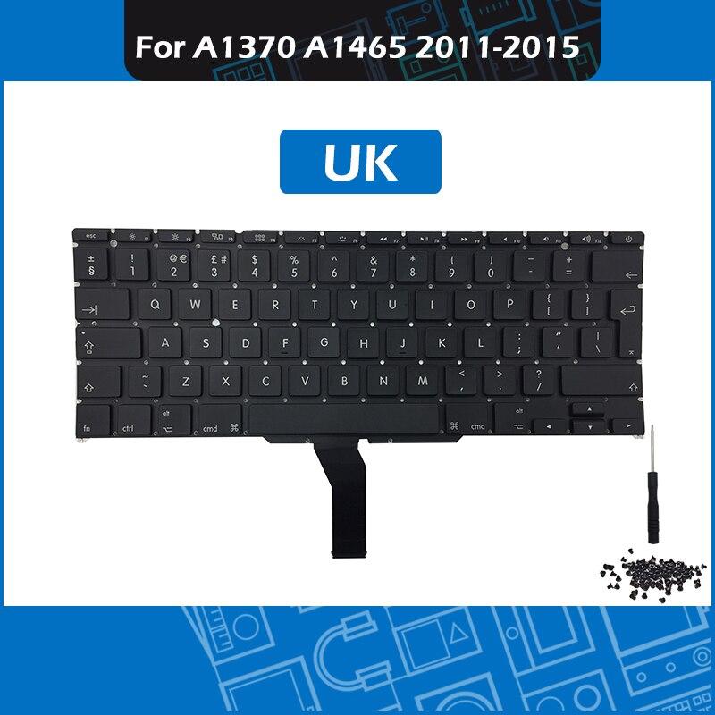 """Bilgisayar ve Ofis'ten Yedek Klavyeler'de Tam Yeni İNGILTERE Düzeni A1465 Klavye Macbook Air 11 için """"A1370 A1465 Yedek Klavye 2011 2015 Yıl title="""