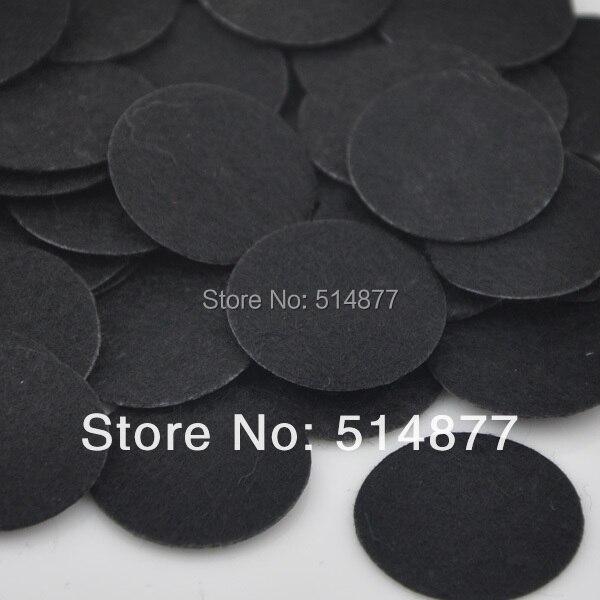 50mm 100pcs Felt Black Color Circle Appliques Free Shipping F021 ...