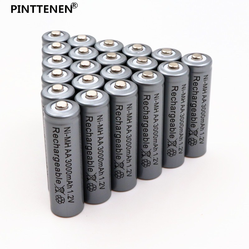Original AA 3000mAh 1.2 V Quanlity Rechargeable Battery AA 3000mAh NI-MH 1.2V Rechargeable 2A Battery
