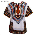 Nuevas mujeres de la moda vintage print short sleeve dress tradicional africano dashiki camisa dashiki robe femme camiseta para las mujeres