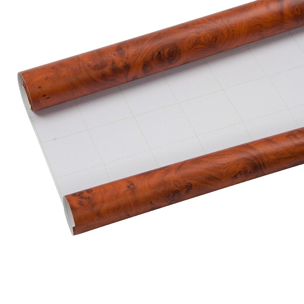 124 cm x 300 cm autocollant vinyle Grain de bois auto-adhésif Film meubles voiture autocollant interne 48.8 ''x 118''