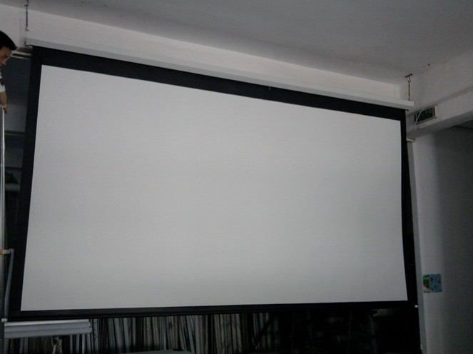 HD Electric Projection Screen 100 Inch With Remote Control 4 3