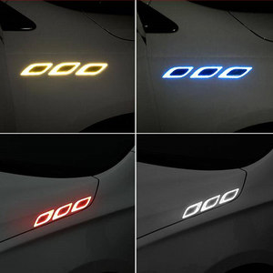 Image 4 - 2PCS Car reflective sticker door handle door bowl Protection for Ferrari BMW Audi Toyota  Honda Mazda Hyundai Mercedes Benz Ford