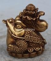 Bronze chinês Riqueza Dinheiro Baicai Cabbage Cigarra de Ouro Spittor Estátua Jin Chan|statue|statue bronze|  -