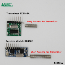 angry monkey 1 set RF module 433 Mhz Wireless Transmitter Receiver Learning Code 1527