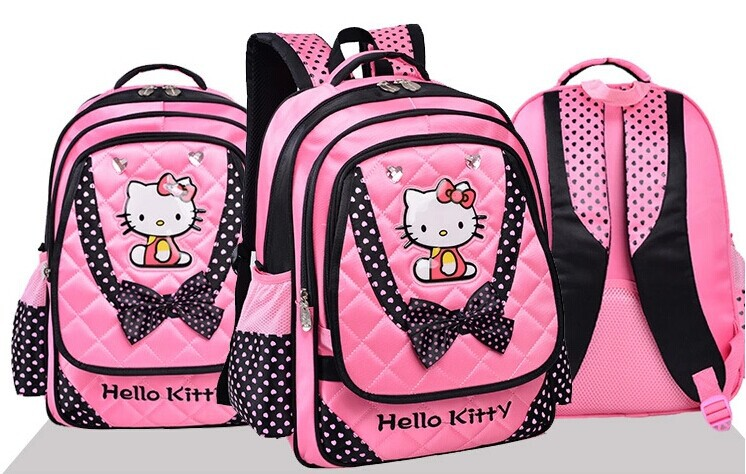 c3ab7b753c25 jmall 2014 hot Cute pink hello kitty bow orthopedic children school bags  for teenagers girls backpack mochila infantil-in School Bags from Luggage    Bags on ...