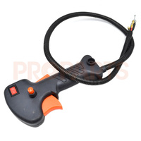 26mm Trimmer Strimmer Brushcutter Brush Cutter Handle Switch Accelerator Throttle Trigger Cable Without Pipe