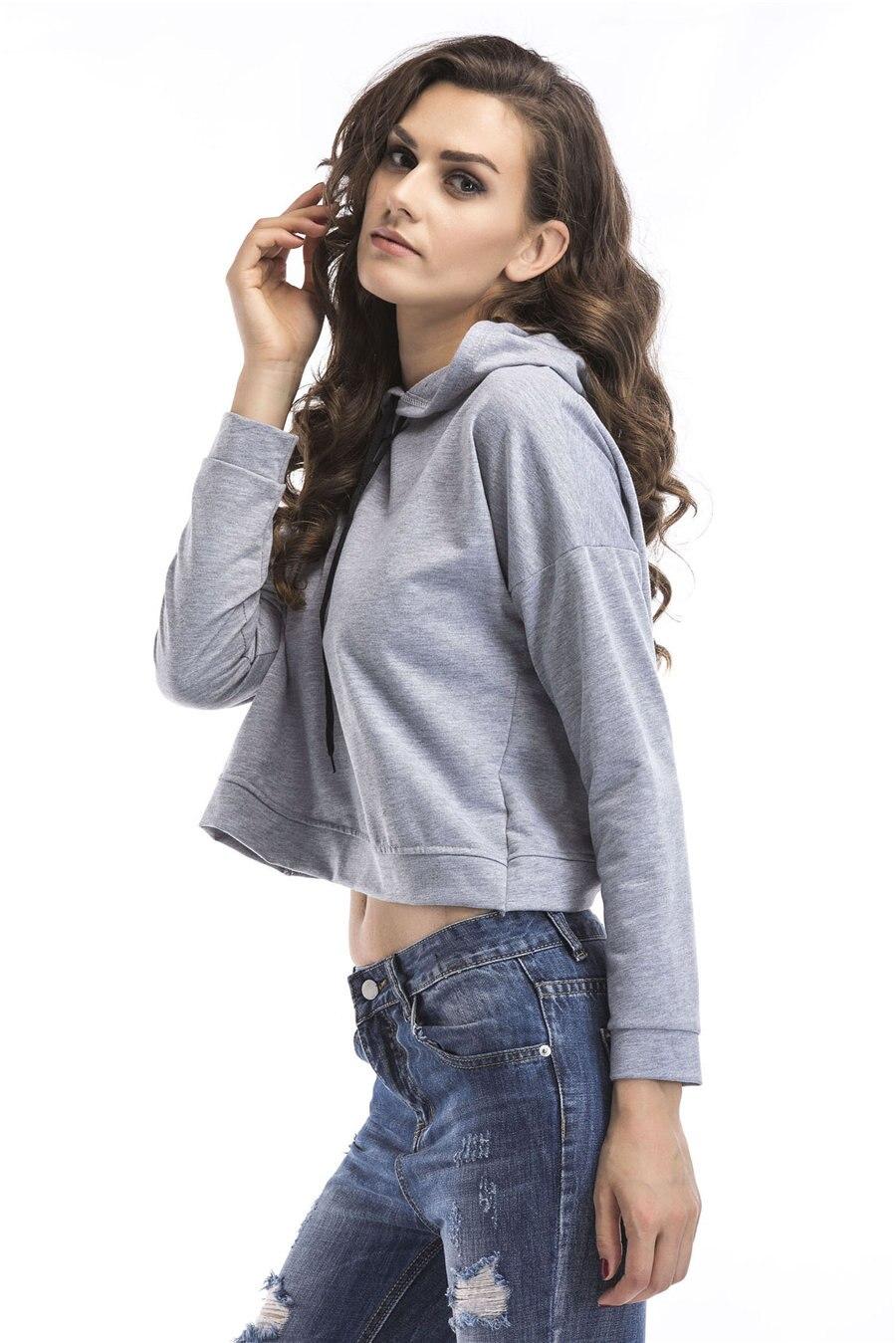 Gladiolus Spring Hooded Hoodies Women Long Sleeve Sexy Crop Top 2019 Short Slim Sweatshirt Women Loose Pullover Tracksuit Tops (14)