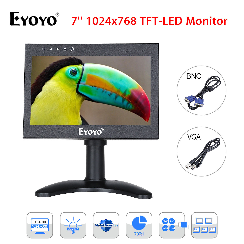EYOYO HD07 7'' LCD 1024x600 300cd/m2 Video Audio PAL NTSC HDMl Monitor Metal Housing Built-in 5000MHA Rechargeable Battery social housing in glasgow volume 2