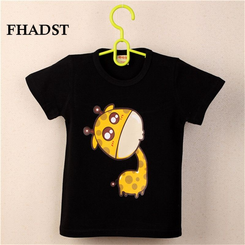 FHADST 2017 Summer New Baby Boys White Cool T shirt Short Sleeve 100% Cotton Casual tees Kids Clothes Character Cute monkey tees