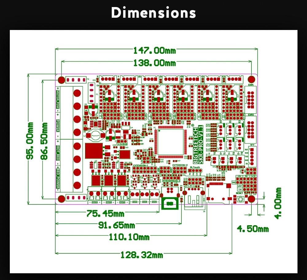32 bit placa impressora 3d duplo z skr v1.3 cnc