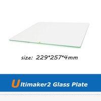 Peças de Impressora Ultimaker 2 3D UM2 Placa De Vidro De Borosilicato Com Tamanho 257*229*4mm