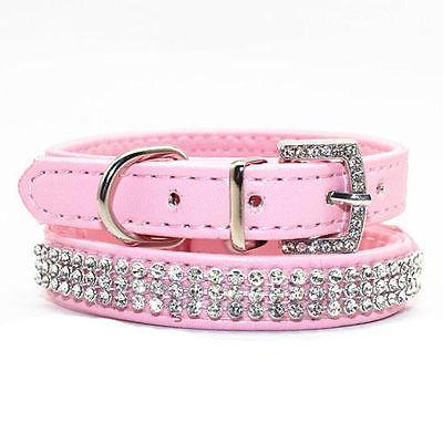 Personlig hundkatt Pet Collar | BLING PU Läder | Rhinestone - Produkter för djur - Foto 2