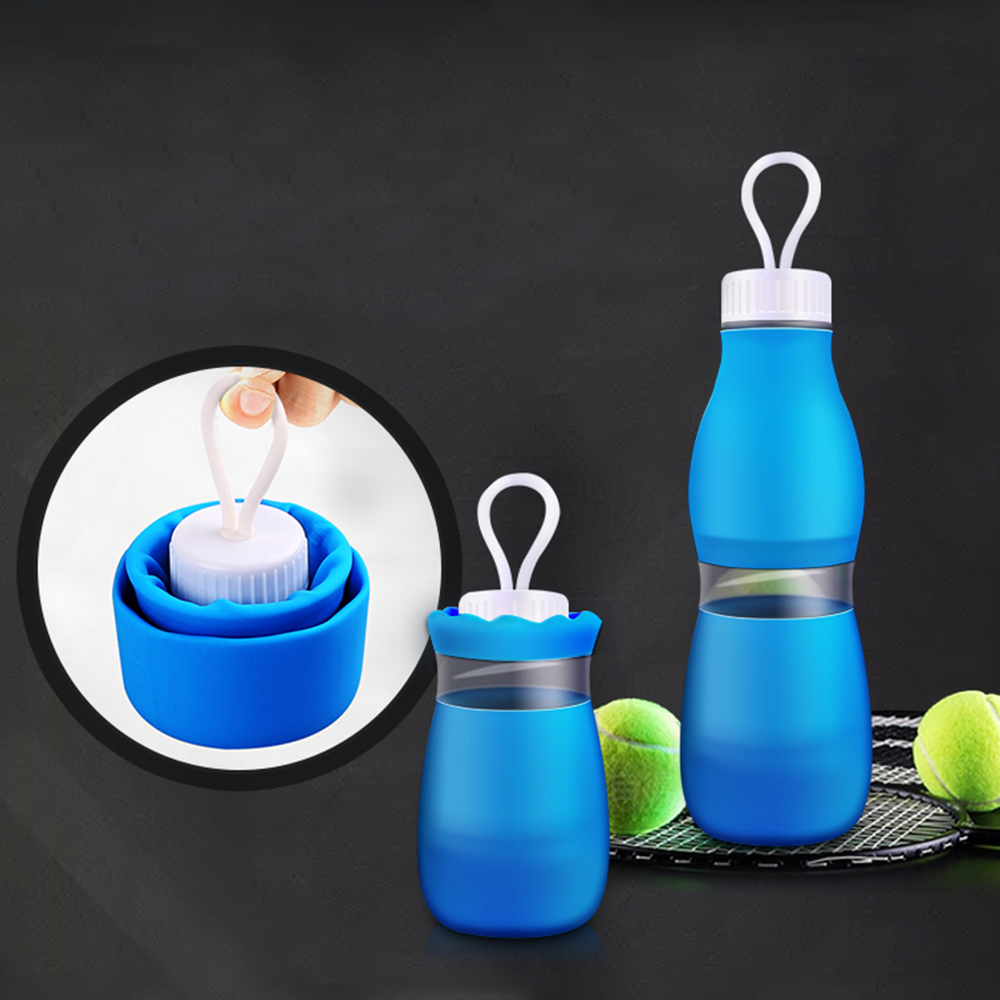 700ML Portable Sport Water Bottle Collapsible Drinking Bottle Silicone Sports Travel Hiking Camping Cycling Climbing Bottle