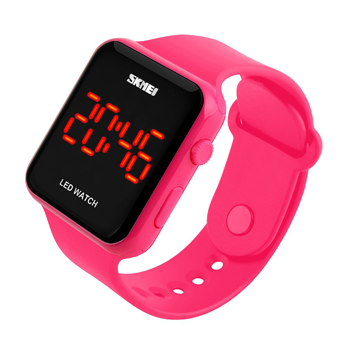 pink clock women wristwatch quartz LED hour smart ladies watch silicone adjustable relogio feminino digital female watches 2018 smart watch gw700 pink
