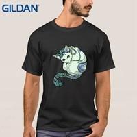 Natural Men T Shirt Short Sleeve Meditation Of Cat Girl Tattoo Black Tee Shirts Online Shop
