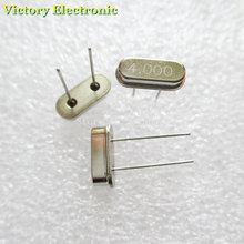 10 шт./лот, Кристальный осциллятор, Кристальный резонатор, 4 МГц, 4 м, 4,000 МГц, 4,000 м, 4,000, 49 S, HC-49S, DIP-2, Пассивный Кристальный кварц