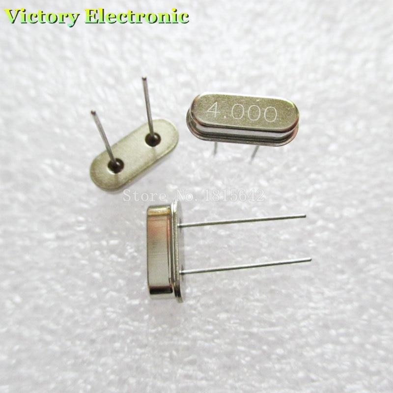 20 pcs 4.000M 4MHz HC-49S Resonator Crystal Oscillator Quartz Passive
