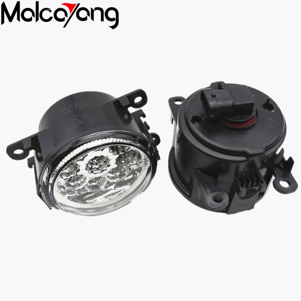 2 Pcs/Set Car-styling 6000K CCC 12V 55W DRL Fog Lamps Lighting for Ford Focus Acura Honda Subaru 35500-63J02 2 pcs set car styling 6000k ccc 12v 55w drl fog lamps lighting for renault megane 2 estate 2002 2015 35500 63j02