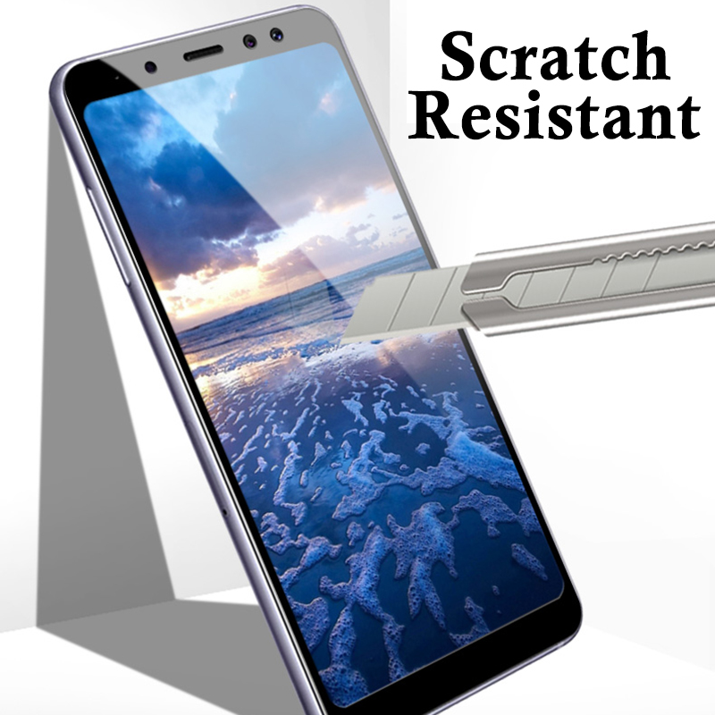 5D Curved For Samung A8 2018 Tempered Glass For Samsung Galaxy A6 2018 A8 Plus A3 A7 A5 2017 Protective Film A6 Plus A600 Case