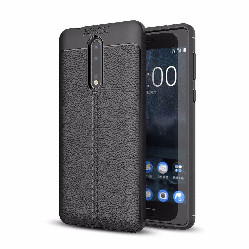 Для Nokia 8 ультра тонкий искусственная кожа чехол противоударный Гибкая Резина TPU силиконовая защитная крышка делам для Nokia 6 5 3 2 1