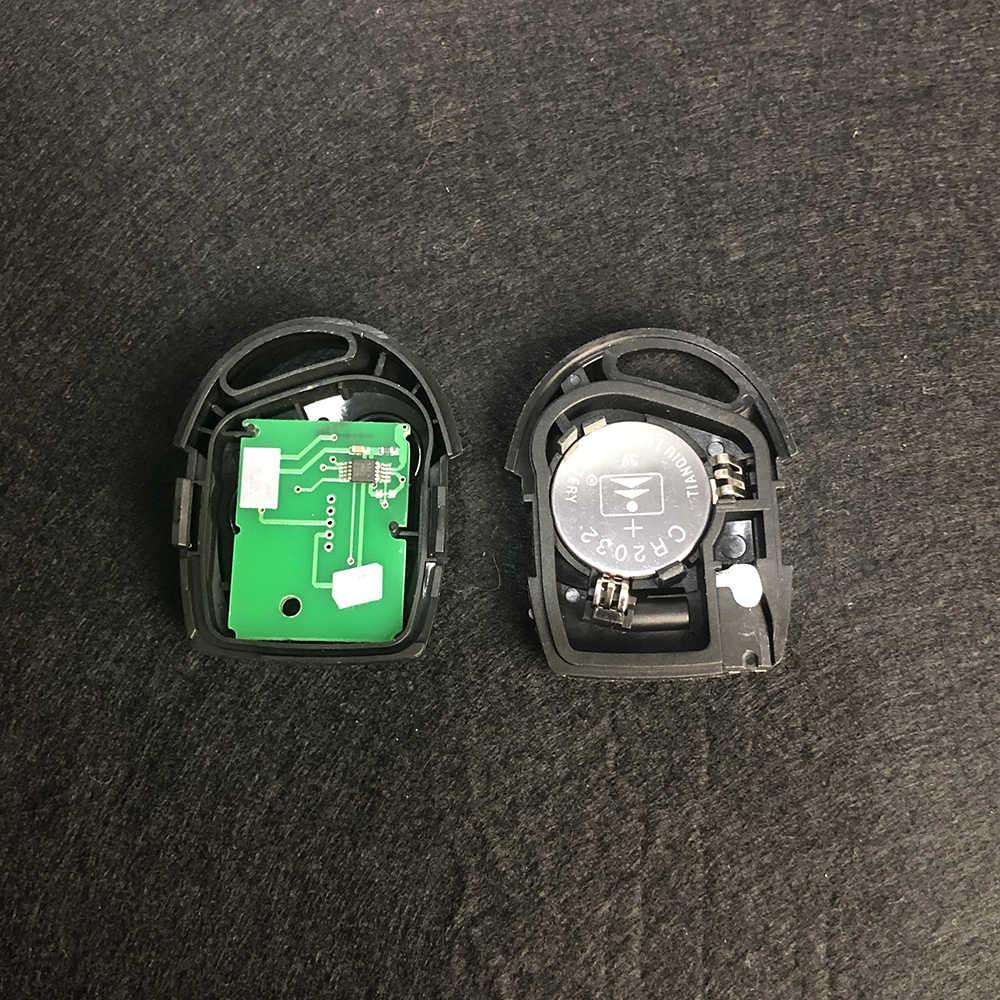OkeyTech Auto télécommande clé Fob 433MHz 4D60 puce pour Ford Mondeo Focus Transit 3 boutons complet clé voiture Remotkey FO21 lame