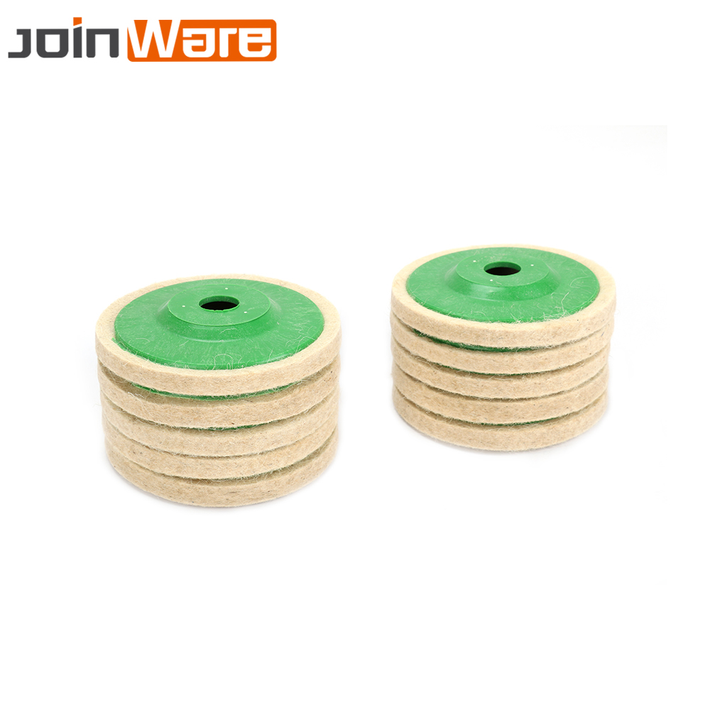 10Pcs 100MM Wool Polishing Pad Buffing Angle Grinder Wheel Felt Polishing Pad Set For Angle Grinder Abrasive Rotary Tool 4 Inch