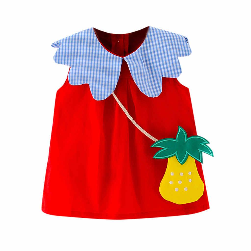 Bayi Gadis Gaun Musim Panas Gaun Gadis Putri Bayi Balita Pakaian Pesta Pernikahan Birthday Tas Pakaian Vestidos Bebes L4