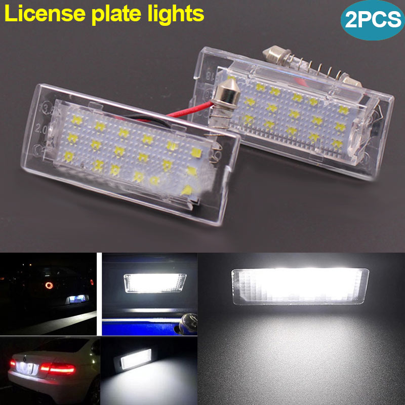New 2 Pcs LED Licence Plate Light Lamp for BMW X5 E53 99-06 X3 E83 03-10 DXY88