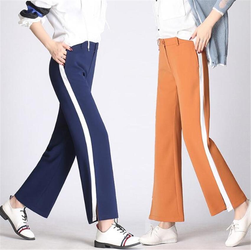 MLCRIYG тонкий новый продукт широкие брюки Сплит вилка цвет столкновения отдыха девять очков широкую ногу Штаны