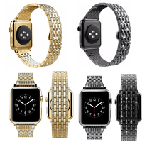 Crystal Rhinestone wristBands Stainless Steel Bracelet Strap for Apple Watch Band diamond 38mm 40mm 42mm 44mm series 4/3/2/1